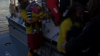 Migrants Rescued After Large Boat Capsizes