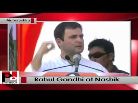 Rahul Gandhi addresses Congress rally at Dindori, Nashik, Maharashtra