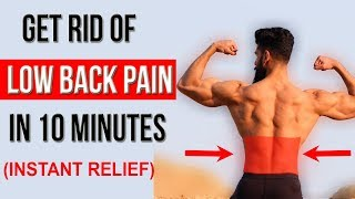 Fix LOWER BACK PAIN in 10 Mins (Top 4 Stretches for LOW BACK INJURY )
