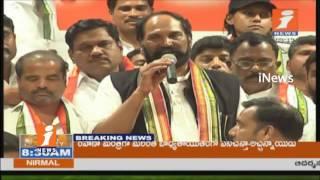 Jadcherla TRS Leaders Join To Telangana Congress Party | Uttam Kumar Reddy | iNews