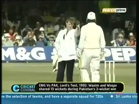 Killer Bowling Duo Wasim Akram and Waqar Younis against England - Cricket Classic Video