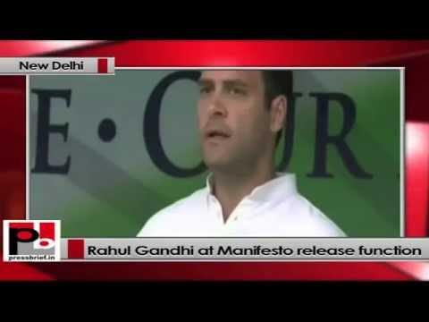 Rahul Gandhi at Congress'2014 Lok Sabha poll manifesto release function