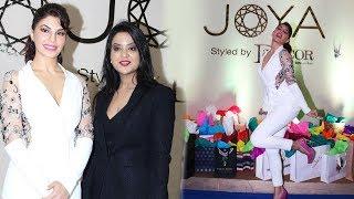 Jacqueline Fernandez & Amruta Fadnavis At Inauguration Of Shopping Exhibition