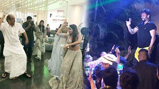 Naga Chaitanya and Samantha Ruth Prabhu's wedding | Sangeeth | in Goa - Suresh and venkatesh dancing
