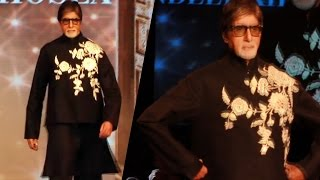 Amitabh Bachchan Walks The Ramp For Abu Jani & Sandeep Khosla Show