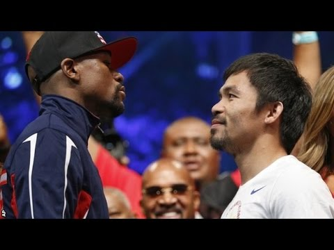 Mayweather v Pacquiao 11,500 Fans watch Las Vegas weigh-in News Video