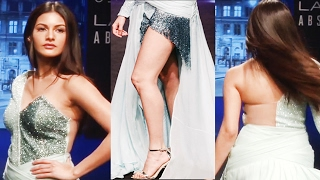 Cute Girl Amyra Dastur Shows Her Sexy Legs On Ramp