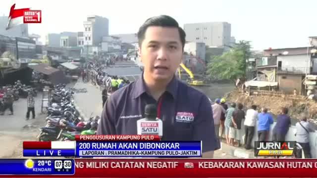 200 Rumah di Kampung Pulo Akan Digusur