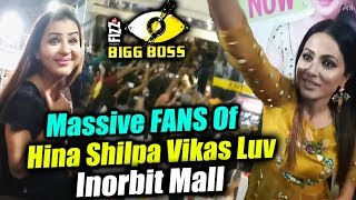 MASSIVE CROWD In Inorbit Mall For Shilpa, Hina Vikas, Luv | BB Mall Task | Bigg Boss 11