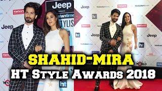 Shahid Kapoor And Mira Rajput At HT Style Awards 2018 Red Carpet