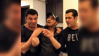 (Video) Salman Khan SINGS Birthday Song For Sohail Khan - Birthday Special