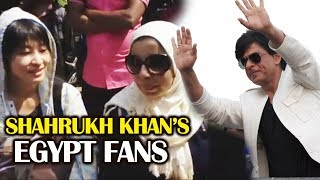 Shahrukh Khan CRAZY FANS From EGYPT Outside Mannat - Shahrukh Khan 52nd Birthday Celebration