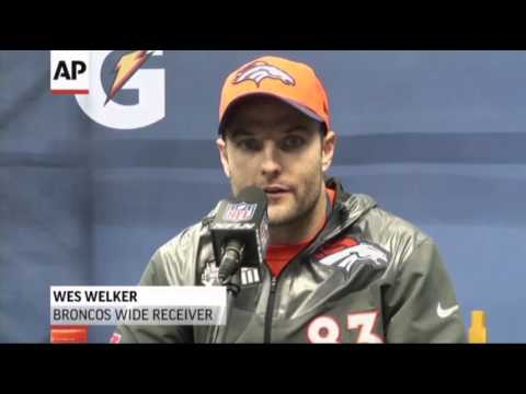 Raw- NFL Players Talk to Media Before Super Bowl News Video