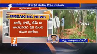 Task Force Police Arrests Red Sandalwood Workers in Chandragiri Forest | iNews