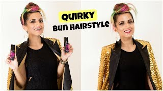 Rock A Quick Quirky Bun Hairstyle For A Party With BBLUNT/ Knot Me Pretty