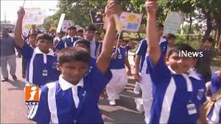 DGP Mahender Reddy Flags Off Walkathon Rally | Aginest Child Sexual Abise | In Hyderabad | iNews