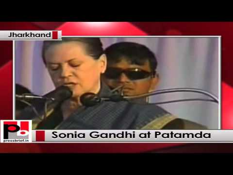 Sonia Gandhi addresses Congress poll rally at Jharkhand, takes on BJP