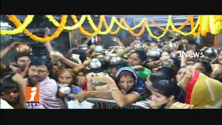 Huge Devotees Rush In Vemulawada Temple On Occasion Of Karthika Masam | iNews