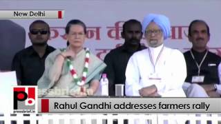 Rahul Gandhi addresses 'Kisaan Mazdoor Samman' rally in Delhi, takes on Centre Politics Video