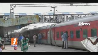 All Trains Stops At Peddapalli Railway Station Due To Technical Problem | iNews