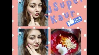 HOMEMADE AFFORDABLE Face pack for WINTER Pink Glow   DIY   Glowing skin in 5 minutes   JSuper Kaur