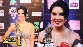 Lovely Sunny Leone At Zee Cine Awards 2017 - Full HD Video