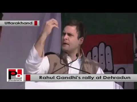 Rahul Gandhi at Dehradun- BJP has only one aim, to grab PM post