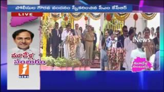 CM KCR Speech at Telangana Formation Day Celebrations at Parade Ground | Hyderabad | iNews