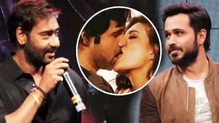 Ajay Devgn's FUNNY Reaction On Emraan Hashmi Kiss Scene - Baadshaho Trailer Launch