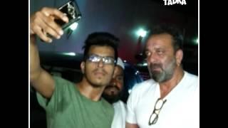 Sanjay Dutt, Mahesh Bhatt, & Pooja Bhatt spotted at Vikram Bhatt Office