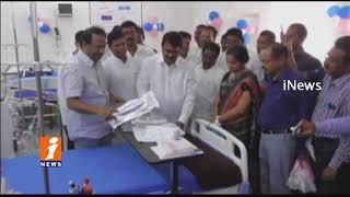 Minister Laxma Reddy Inaugurates Dialysis Center In Govt Hospital | Wanaparthy | iNews