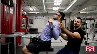 """Basic exercise for Solid Back """"Lat Pull  Downs""""   (Hindi / Punjabi)"""