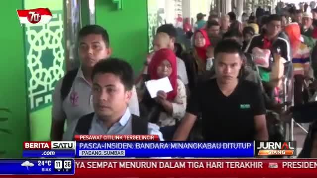Bandara Minangkabau Sempat Ditutup Setelah Citilink Tergelincir