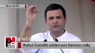 At 'Kisaan Mazdoor Samman' rally in Delhi, Rahul Gandhi slams Centre, PM Modi Politics Video