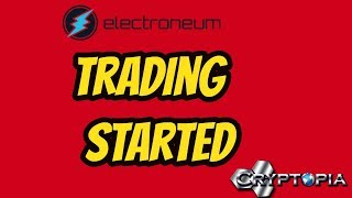Elecroneum Trading on Cryptopia Exchange