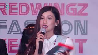 Bigg Boss Ex Contestant Gauhar Khan Judging Redwings Fashion Ramp Walk 2017