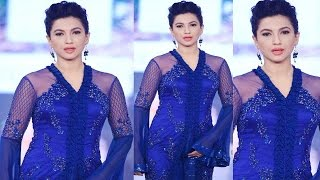 Gauhar Khan in Hot Blue Outfit On Ramp