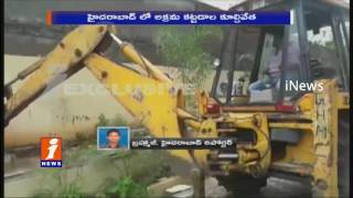 GHMC Dismantling  Illegal Construction Process Started | iNews