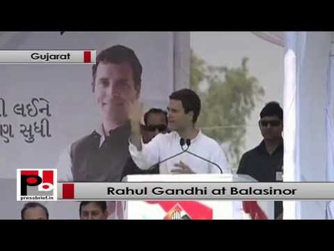 Rahul Gandhi- Gujarat is indeed shining but only for 10-15 rich industrialists