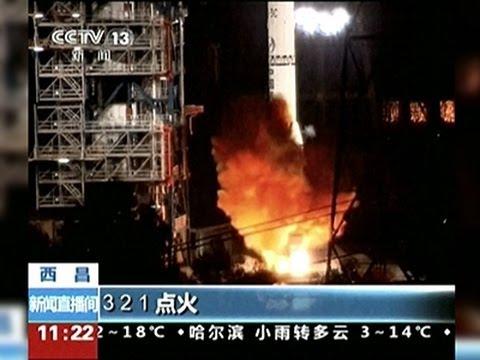 Raw- China Launches Moon Orbiter News Video