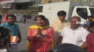 Manchu Lakshmi and Rakul Preet Singh Visits Tirumla | Lakshmi Fires on Media | iNews