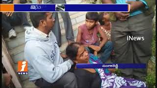 Municipal Worker Climbs Cell Tower in Sangareddy   Alleges Vice Chairman   iNews