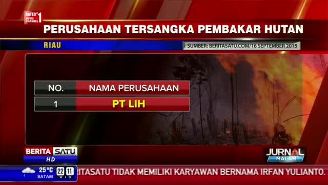 Daftar Perusahaan Pembakar Hutan