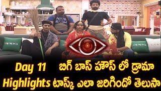 Bigg Boss Telugu Show 11th Day Highlights | Drama Task Highlights - Big Boss Episode 12 Task Details