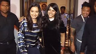 Shraddha Kapoor & Ekta Kapoor SPOTTED On Dinner At Bastian Restaurant