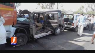 Road Accident at Chittoor | 4 Dead 5 Injured | iNews