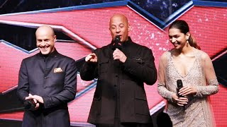 Vin Diesel & Deepika Padukone At Press Conference Of xXx- Return Of Xander Cage In India