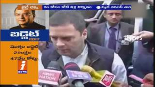 Rahul Gandhi Says There's Nothing In Budget 2017   iNews