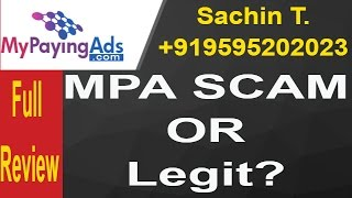 MyPayingAds is a Legal or Scam ? is it safe way to make money online ? Full review in Hindi