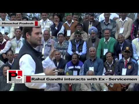 Rahul Gandhi interacts with Ex-servicemen in Tanda, Himachal Pradesh